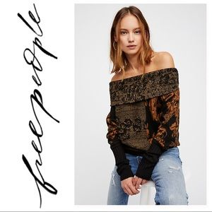 Free People Botanical Off The Shoulder Sweater